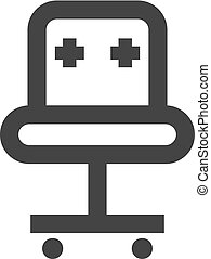 Outline Icon - Office chair