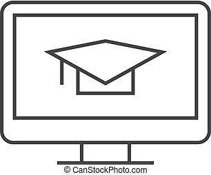 Outline icon - Online Education