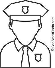 Outline icon - Police avatar