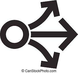Outline Icon - Propagate arrows