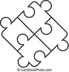 Outline icon - Puzzle
