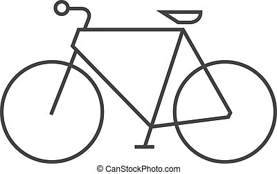 Outline icon - Road bicycle