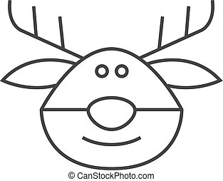 Printable Rudolph Coloring Pages For Kids | Cool2bKids |Rudolf Reindeer Outline
