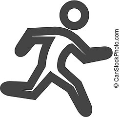 Outline Icon - Running athlete