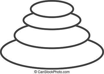 Outline icon - Spa stone
