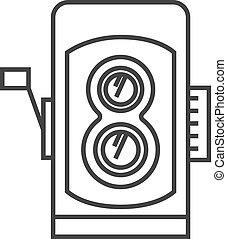 Outline icon - TLR camera - Twin lens reflex camera icon in ...