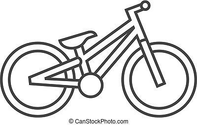 Outline icon - Trial bicycle