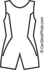 Outline icon - Triathlon suit