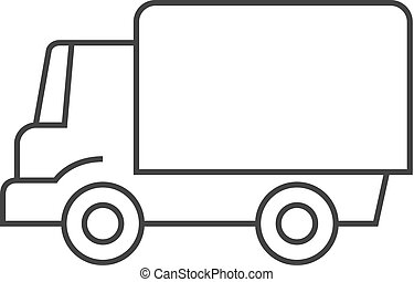 Outline icon - Truck