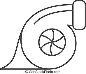 Outline icon - Turbo charger - Turbo charger icon in thin...