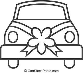 Outline icon - Wedding Car