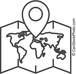 Outline icon - World map