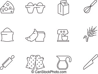 Outline Icons - Baking