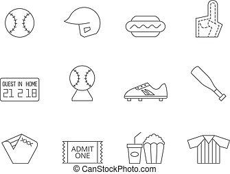 Outline Icons - Baseball