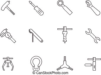 Outline Icons - Bicycle Tools