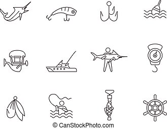 Outline Icons - Fishing