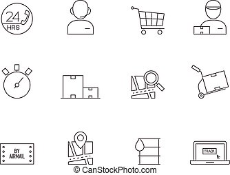 Outline Icons - Logistic
