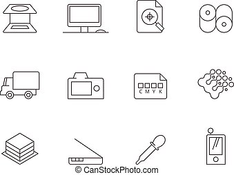 Outline Icons - More Printing and Graphic Design