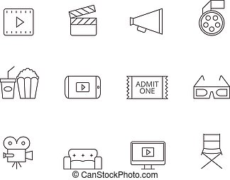 Outline Icons - Movie