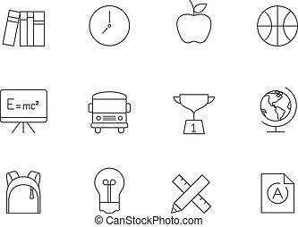 Outline Icons - School