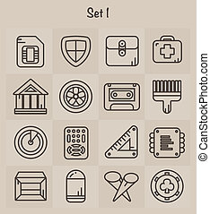 Outline Icons Set 1