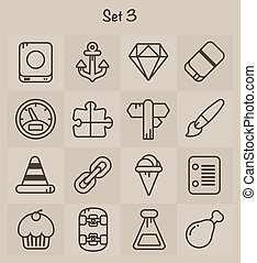 Outline Icons Set 3