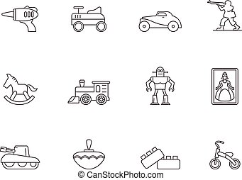 Outline Icons - Toys