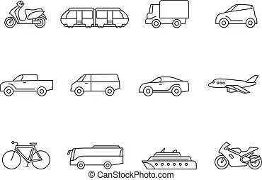 Outline Icons - Transportation