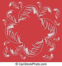 illustration of feather background