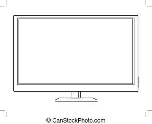 led tv - outline illustration of led tv