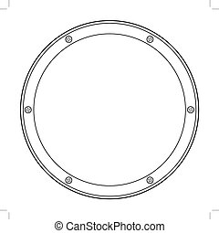 porthole, detail of yacht