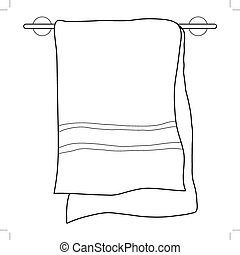towel - outline illustration of towel
