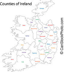 Outline Ireland map