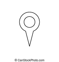 Outline location icon isolated on white background