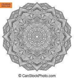 Outline Mandala Flower for Coloring