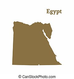 Stock Illustrations Of Egypt Outline Map With Shadow Detailed - Map of egypt outline