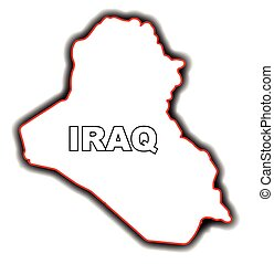 Outline map of the Arab League country of Iraq