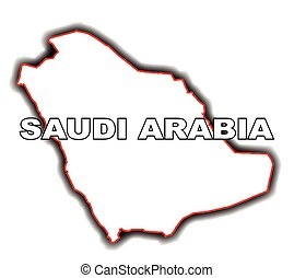Outline Map of Saudi Arabia - Outline map of the Arab League...