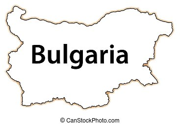 Bulgaria - Outline map of the country of Bulgaria isolated...
