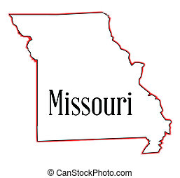 Missouri - Outline map of the state of Missouri