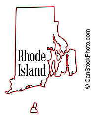 Rhode Island - Outline map of the state of Rhode Island