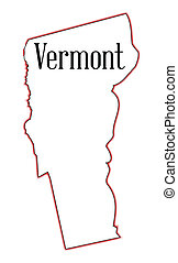 Vermont - Outline map of the state of Vermont