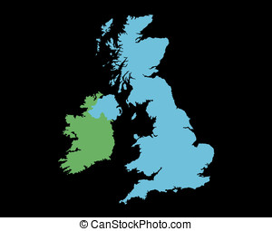 Outline map of UK and Ireland
