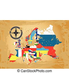 Outline maps of Europe