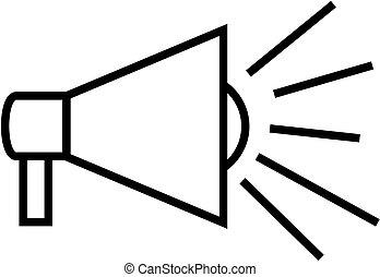 Outline megaphone icon.
