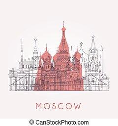 Outline Moscow skyline.
