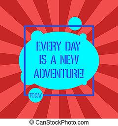 outline., motivation, concept, photo, forme abstraite, carrée, vide, ovale, ton, écriture, adventure., début, texte, nouveau, signification, chaque, asymétrique, jour, intérieur, jours, écriture, positivism