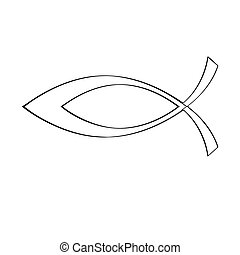 Outline of a christian fish symbol