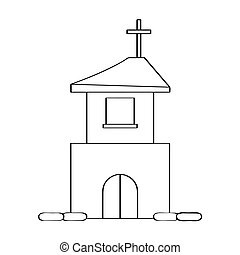 Outline of a church