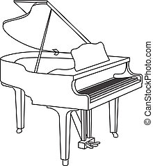 grand piano - outline of a grand piano